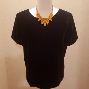 JCrew Velvet Short Sleeve Shirt in Size 3X
